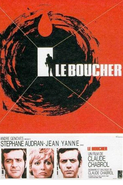 Affiche « Le boucher » de Claude Chabrol.
